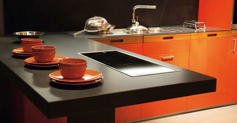 Encimeras silestone castrillo for Plan de travail colore